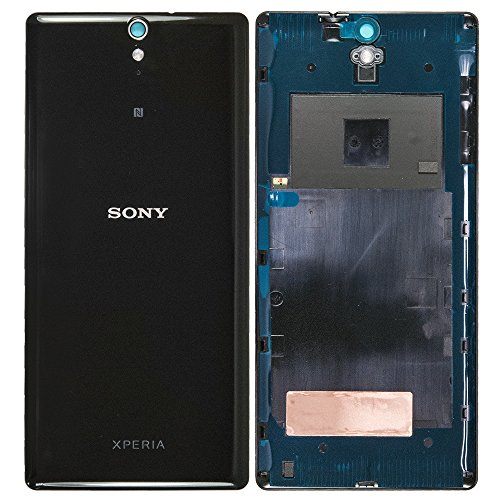 Sony Xperia C5 Ultra (E5506, E5553), Xperia C5 Ultra Dual Sim (E5533, E5563) Akkudeckel, Battery Cover + NFC Antenne, Schwarz, black