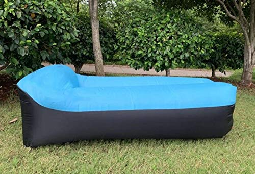 Air Sofa (SKY BLUE) Suitable when traveling, beaches, camping trips, hiking, festivals, gardens, comfortable for seating and relaxation, quick and easy to set up, lightweight and compact in size.