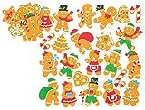 Baker Ross Autocollants pain d'épices en mousse (paquet de 120) - matériels créatifs pour enfants et adultes