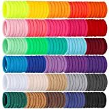 Isbasa 300pcs Baby Hair Ties, Elastic Hair Bands Soft Scrunchies for Toddlers Infants, Small Rubber Bands for Kids Baby Girls (30 Colors)