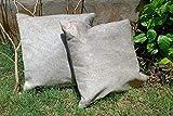 Meshnew - Funda de cojín de piel de vaca, color gris natural, para silla de vacuno, fundas de almohada de piel de vaca, 2 unidades, color gris