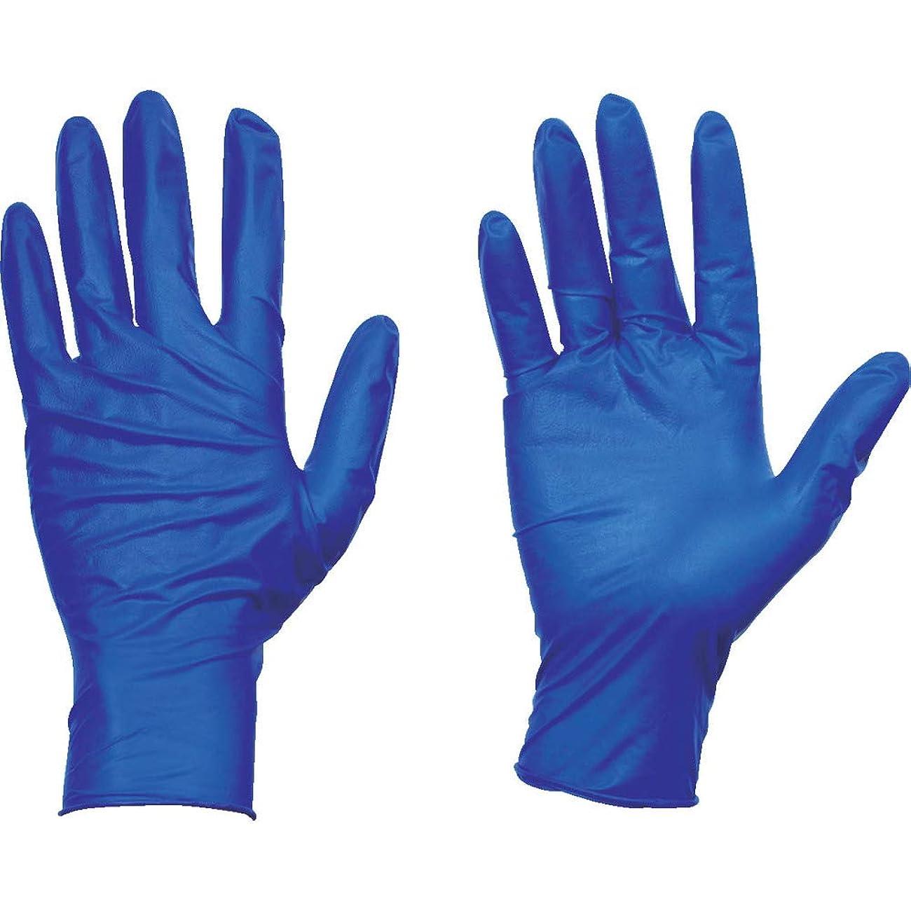 手配する入口オーナーTRUSCO(トラスコ) 使い捨て天然ゴム手袋TGセーフ 0.12 粉無青S 100枚 TGNL12BS