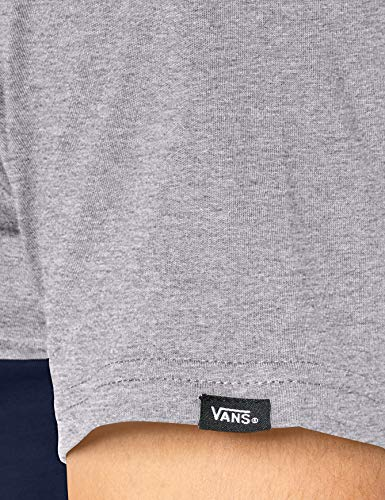 Vans Colorblock Tee T-Shirt, Dress Blues/Athletic Heather, M Uomo
