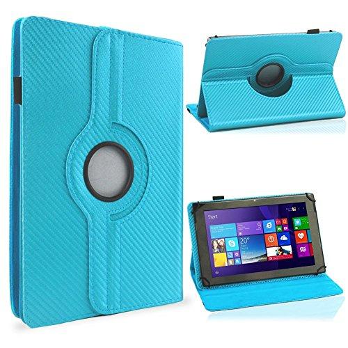 UC-Express Tablet Schutzhülle 10-10. Zoll Tasche 360° Drehfunktion Hülle Cover Hülle Stand, Farben:Hellblau, Tablet Modell für:i.onik TM3 Serie 1 10.1