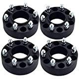 DCVAMOUS Black 6x135 Hubcentric Wheel Spacers 2 Inch Compatible with Ford-Lincoln 6 Lug - 4pc F150 Wheel Spacers with 14x1.5 Studs for 2015 2016 2017 2018 2019 2020 2021 F150 Expedition Navigator