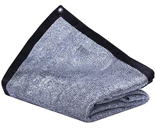 JTsuncover - Aluminium 85% – strapazierfähiger Sonnenschutz aus Netzstoff für Sonnenschutz – mit Ösen – 10ft x 12ft Aluminet