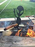 alien guy marshmallow cooker and Hot Dog Roasting Stick wooden handle included