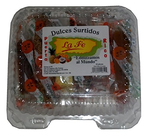 Assortment Sweets of Puerto Rico (Surtido De Dulces Tipicos De Puerto Rico) 24 Pieces (1 Oz Each/piece) By Fabrica De Dulces La Fe