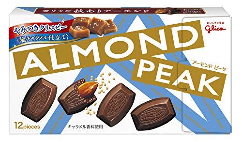 江崎グリコ アーモンドピーク(やみつきクリスピー) 塩キャラメル仕立て 12粒 ×10個