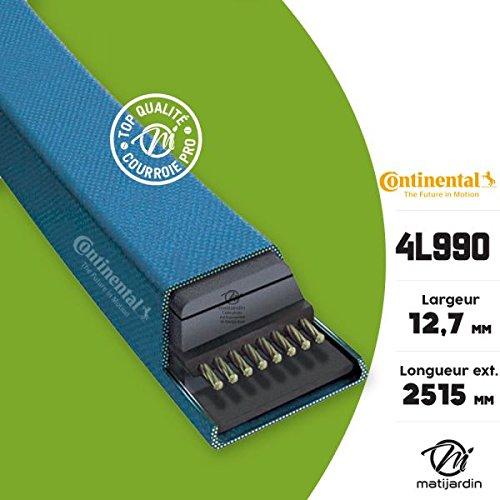 Courroie tondeuse 4L990 Continental Kevlar - 12,7 x 7,2 x 2515 mm - Pièce neuve