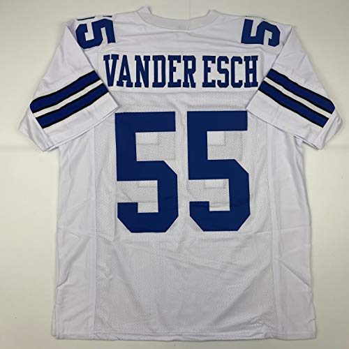 Unsigned Leighton Vander Esch Dallas White Custom Stitched Football Jersey Size Men's XL New No Brands/Logos