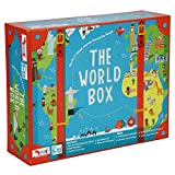 CocoMoco Kids World Box Learn Geography with Activity Box for Kids with World Map Activity Kit, Passport,...