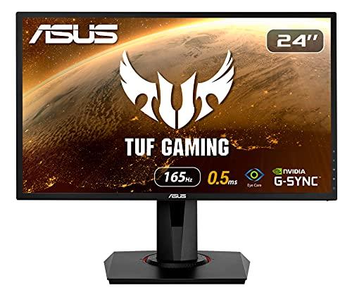 ASUS VG248QG - Monitor Gaming de 24' (Full HD, 165 Hz, 0.5 ms MPRT, Extreme Low Motion Blur, Adaptive-sync, FreeSync Premium...