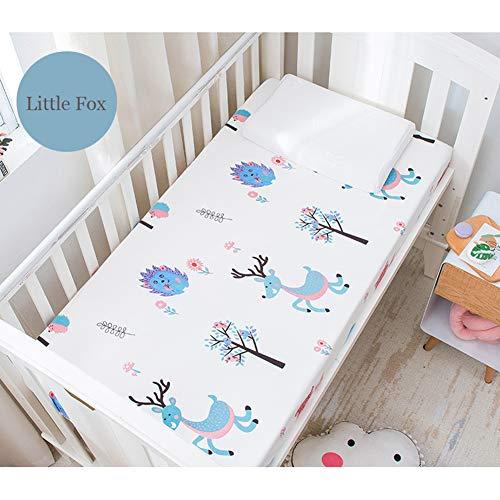 Katoen Waterdichte Matrasbeschermer voor Baby Peuter Bed Cover Matrasbeschermer wieg Waterdicht Bed Sheet 120x200cm C