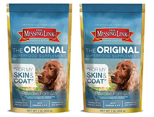 The Missing Link Ultimate Skin & Coat Dog Supplement, 1-Pound, (Pack of 2)