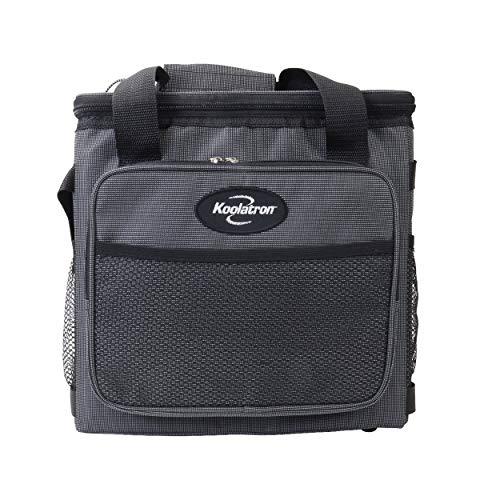 Koolatron D25 Hybrid Portable 12V Cooler Bag with Shoulder Strap, Iceless, 24.5 Liter / 26 Quarts Capacity, 110 V AC / 12V DC For Camping, Travel, Picnic, Boating