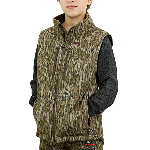 Mossy Oak Sherpa Youth Camo Vest, Youth Hunting Clothes, Kids Camo Jacket