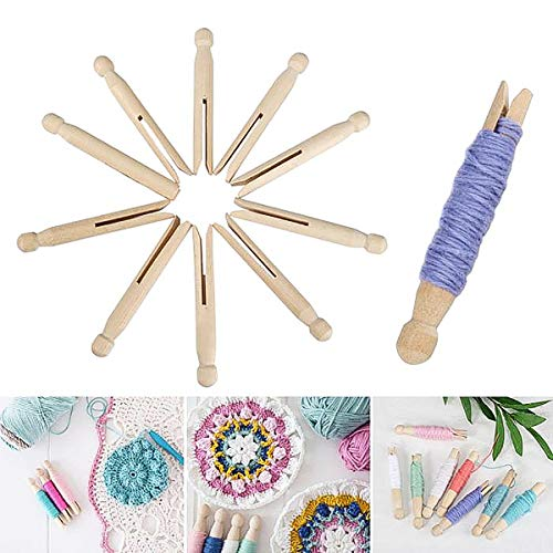 iSuperb 5pcs Agujas de Tejer, Wooden Weaving Needles Aguja de ganchillo Tapicería Hilo para tejer Costura Fabricación Accesorio Herramientas De Artesanía (50 pcs)