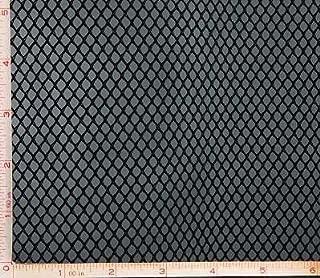 Black Big Hole Mesh Fabric 2 Way Stretch Polyester 58-60