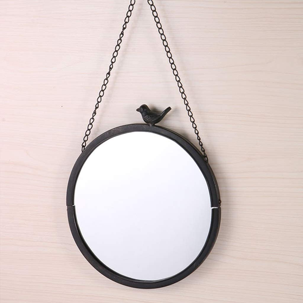 HONYGE LXGANG Garden Iron Ranking TOP17 Frame Chain Wall Round New York Mall Mirror Hanging