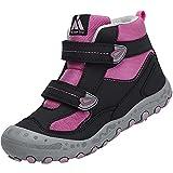 Mishansha Senderismo Trekking Zapatos Niño Transpirable Zapatillas de Senderismo Niñoso Botas de Montaña Invierno Adolescente, Morado 28