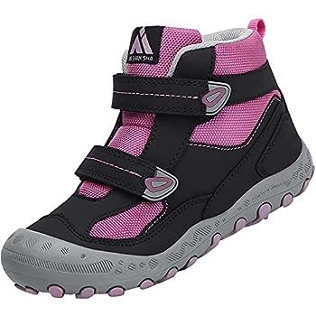 Mishansha Enfants Plein Air Bottes de Trekking Garçon Confortable Léger Chaussures Randonnée pour Fille Respirant Antidérapant Chaussure Marche, Enfants Violet 32