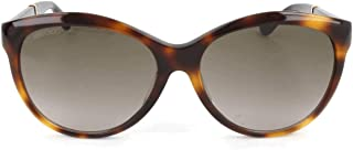 Jimmy Choo Cat Eye Sunglasses for Women - Brown Lens (GLEE-F-S 16YHA Brown)
