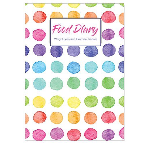 A5 Food Diary, Slimming Diary, Weight Loss and Exercise Journal, Diet Diary...