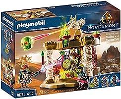 PLAYMOBIL Novelmore 70751 Sal'ahari Sands - Tempel der Skelettarmee, Mit Lichteffekt, Ab 4 Jahren