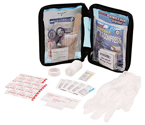 Rapid Care First Aid 80060-SP-102 All Purpose First Aid Kit, Soft Case with Zipper, 102 Pieces