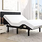 Amolife Ergonomic Adjustable Bed Base Frame / Queen Size Bed Frame / Bed Base with Head and Foot Incline / Wireless Remote Control / Wood Board Support (Queen, Adjustable Bed Only)