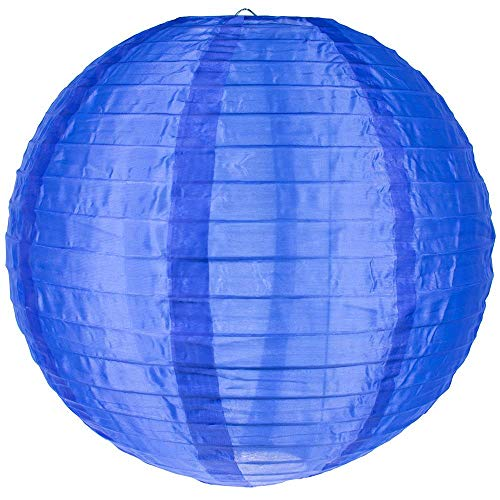 "Quasimoon PaperLanternStore.com 10"" Navy Blue Nylon Lantern, Durable Hanging Decoration"