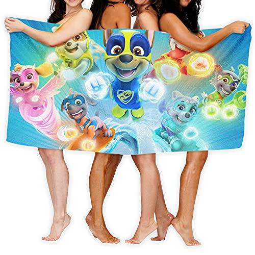 Paw Patrol Hero toallas de playa de microfibra ultraligeras, toallas de baño, toallas de baño, natación absorbentes, camping, fitness, colchonetas de yoga, mantas