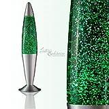 Schöne Glitterlampe Lavalampe in grün RA1/5/719 Magmalampe Glitterleuchte