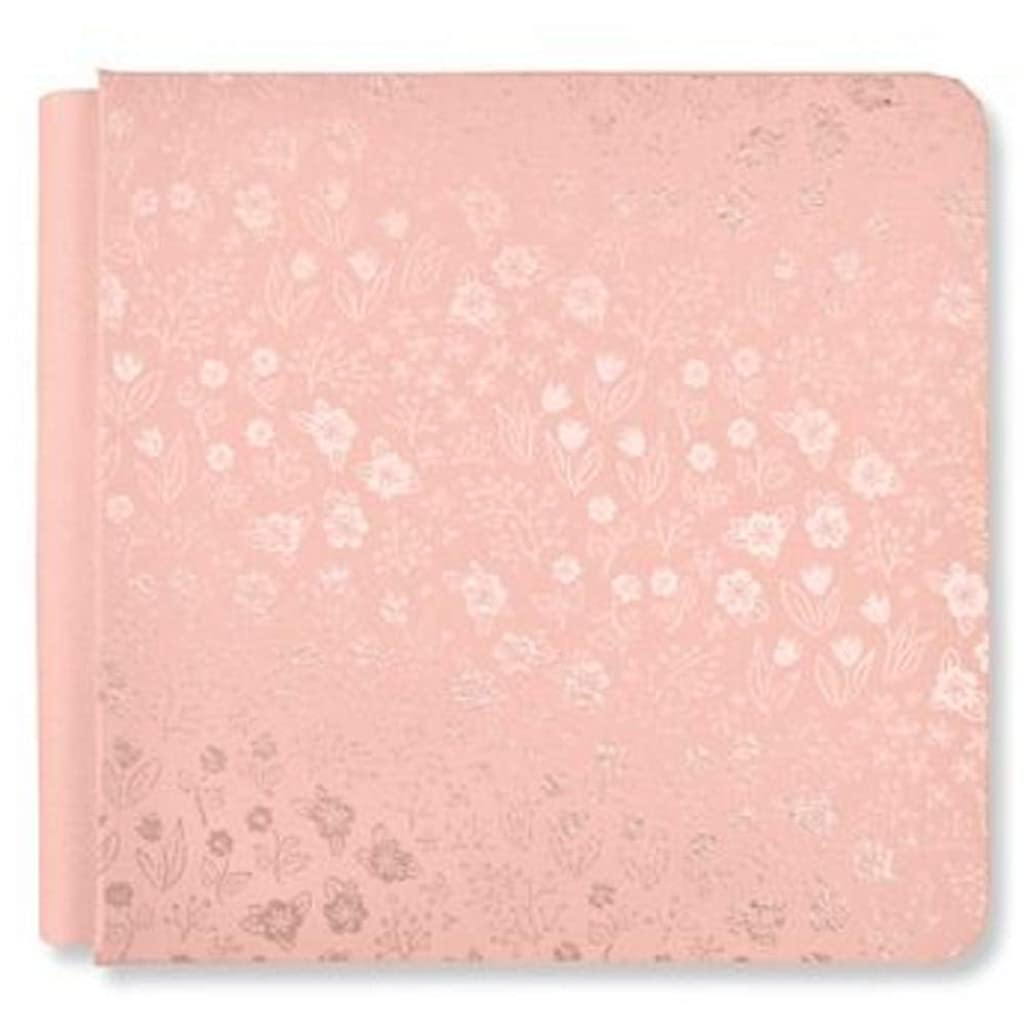 8x8 Blush Light Pink Blooms Flower Album Cover Only by Creative Memories