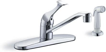 Glacier Bay 67552-1101 Single-Handle White Side Sprayer Kitchen Faucet in Chrome