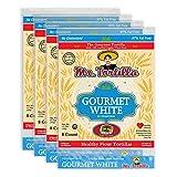 Mr. Tortilla Gourmet White Tortillas - Fresh Soft Taco Shells - Zero Cholesterol Organic Wheat Flour Burrito Wrap - Healthy Vegan Thin Food Wraps - 8-Count, 4-Pack