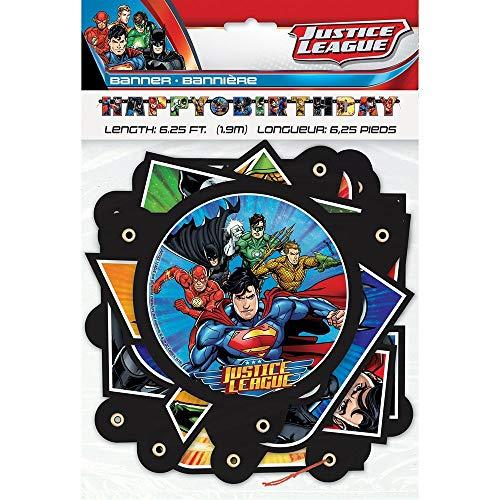 Unique Party 49980 - 6ft Justice League Birthday Banner