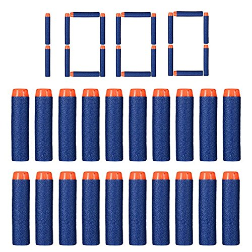FHD Nerf Relill Bullet Compatible Bullet Dardos Soft Tip Blasters Kid Toy Gun para Nerf Toy Gun N-Strike Elite Series 50/100/200/300/400/500/600/1000 Pack Blue (1000 PCS)