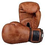 FGDFGDG Guantes de Boxeo, Bolsas de Boxeo de Trabajo Pesado Profesional Mitts PU, con Banda de muñeca Ajustable para el Combate, Bueno para Muay Thai Fight Kickboxing Men Brown