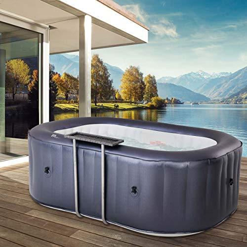 BRAST Whirlpool aufblasbar MSpa URBAN Nest für 2 Personen 186x125x68cm In-Outdoor Pool 104 Massagedrüsen Aufblasfunktion per Tastendruck