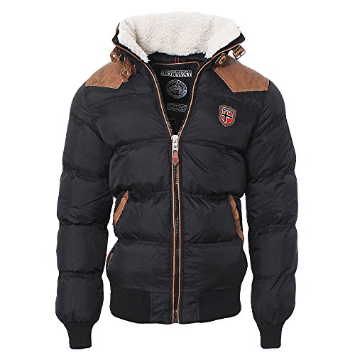 Geographical Norway Abraham Blouson Homme, Noir, FR : S (Taille Fabricant : S)