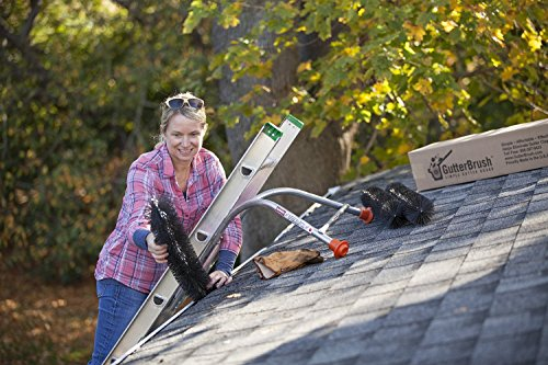 "GutterBrush Simple Gutter Guard | for Standard 5"" Gutters | Easy, No Tools DIY Gutter Leaf Guard (30 Ft.)"