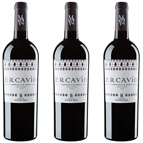 Ercavio Tempranillo Roble Vino Tinto  - 3 botellas x 750ml - total: 2250 ml