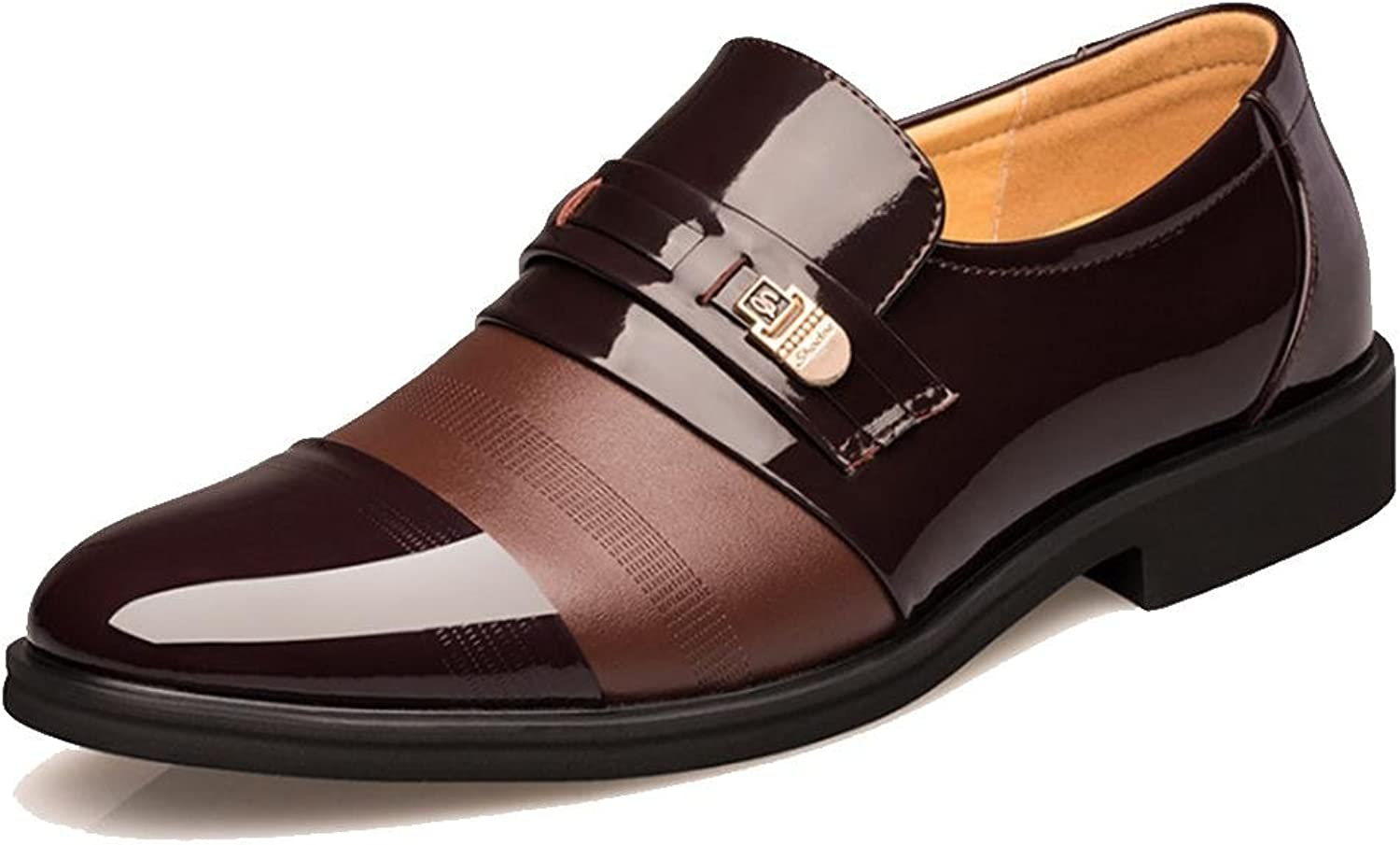 NSHX Men's shoes, business, casual shoes, round shoes