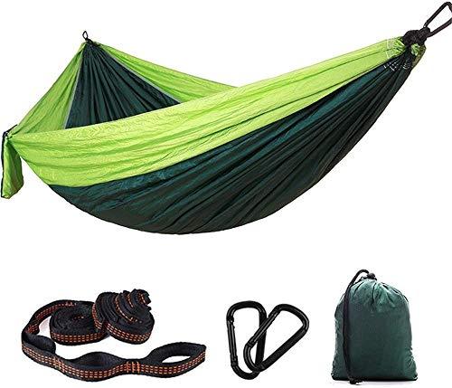 LEIXIN Gartenstuhl Hammock Camping Hammock - Doppel Parachute Camping Hammock Leichtes Nylon tragbare Hammock Tragbare Hammock (Farbe: Himmelblau + blau) (Color : Fruit Green+Dark Green)