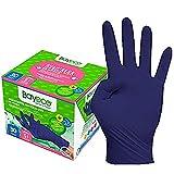 Bayeco - Guantes un solo uso - Nitrilo - Color Azul Oscuro - Ambidiestros -...