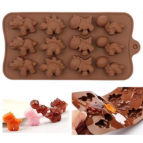 Weigen Moule en silicone pour chocolat, dinosaure et gâteau, biscuits, pâtisserie, sucre, bonbons en silicone (couleur : 2)