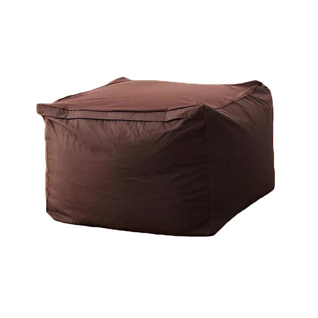 ハチ広まった収益ビーズクッション ソファー 人をダメにするソファ クッション 豆袋 座布団 もちもち 無地 取り外し可能 低反発 (ブラウン, 65*65*43cm)