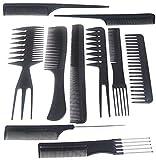 Gearmax® Estilistas profesionales de peluquería Barberos peines Cabello sano 10 piezas